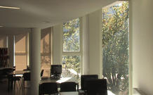 View of the library. (video still: João Dias)