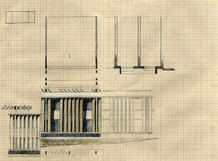The classrooms wing elevation. (design study sketch: José Neves)