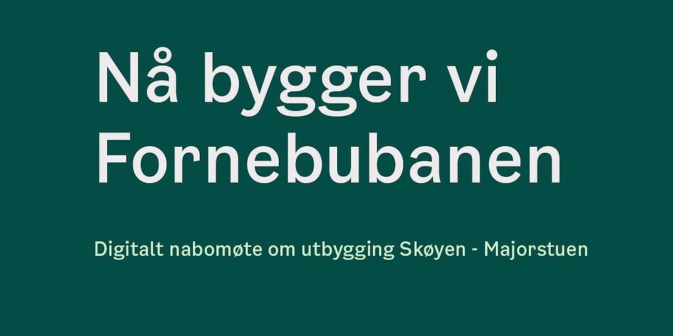 Digitalt nabomøte for strekningen Skøyen - Majorstuen