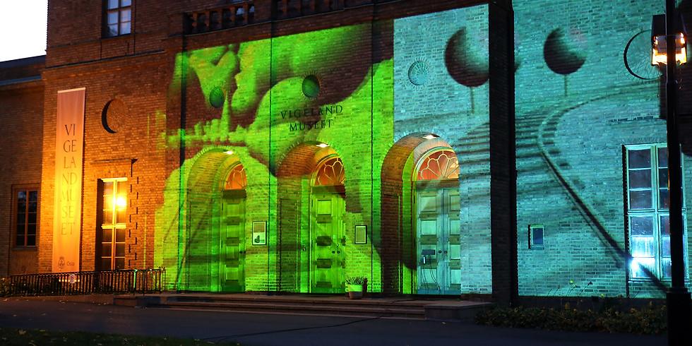 Kunstfilm på  Vigelandsmuseets fasade
