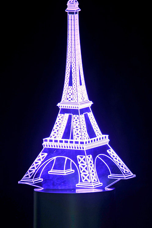 3D Eifel Tower Laser Cut Precision LED Lights
