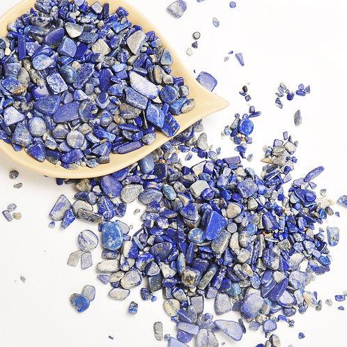 Lapis Lazuli Tumbled Chips Stone (1 Pound)