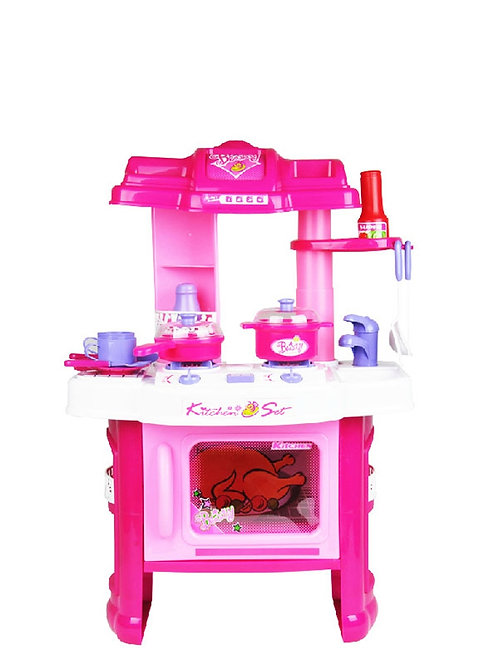 """24"""" Deluxe Beauty Kitchen Appliance Cooking Play Set 24"""" With Lights & Sound"""