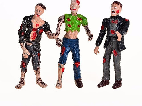 Zombie Action Figures With Movable Joins (Pack of 6)