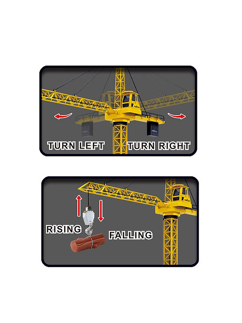 """50"""" Wired RC Crawler Crane with Tower Light and Adjustable Height"""