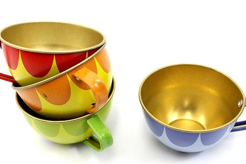 Metal Teapot And Cups Kitchen Playset (Fruit)