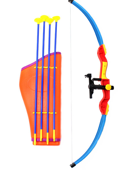 """Kings Sport 32"""" Toy Archery Bow And Arrow Set For Kids - Four Suction Cup Arrows"""