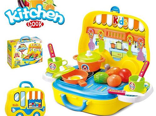 Portable Kitchen Playset 24pcs