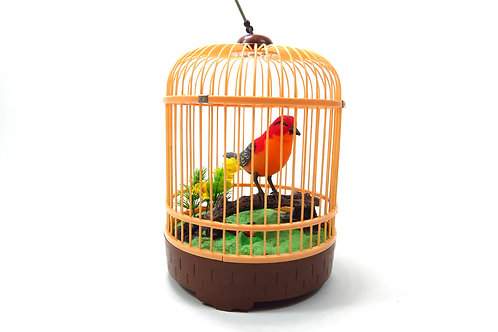 Singing & Chirping Bird In Cage - Realistic Sounds & Movements