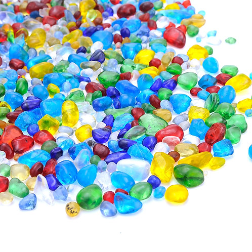 Lampwork Glass Tumbled Chips Stone (1 Pound)