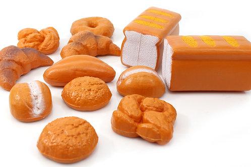 12 Pc Bread Food Playset