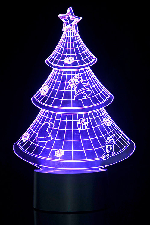 3D Christmas Tree Laser Cut Precision LED Lights