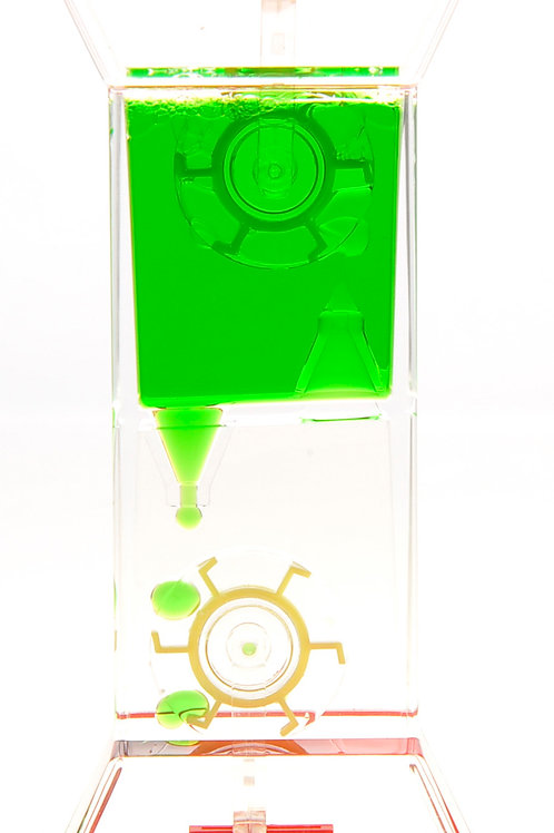 Liquid Motion Bubbler With Two Wheels (Green)