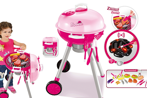 Pink BBQ Grill PlaySet Toy