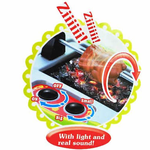 """29"""" Deluxe Kitchen BBQ Pretend Play Grill Set with Light and Sound"""