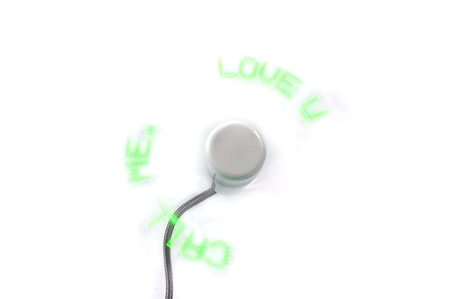 "12"" USB LED Fan Green"