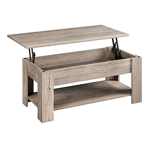 Rustic Lift Top Coffee Table w/Hidden Compartment & Storage Space - Lift Tablet