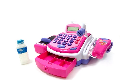 Pretend Play Electronic Cash Register Toy (Pink)