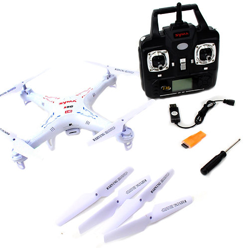 """12"""" Syma 4CH 2.4GHz 6 Axis Gyro RC Quadcopter +2.0MP HD Camera and 2G SD Card"""