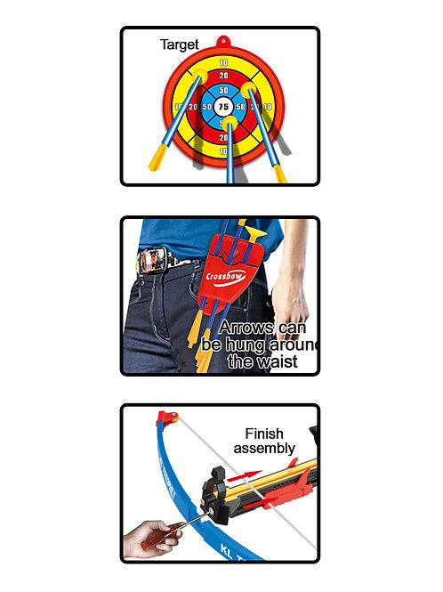 Archery Crossbow And Arrow Toy Set with Target