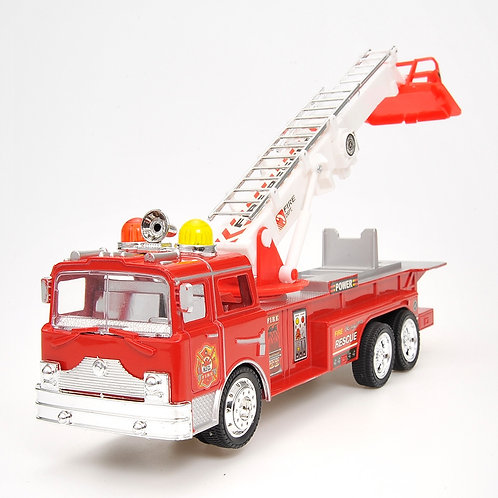 "12"" Rescue Fire Truck With Extending Ladder, Lights & Siren Sounds"