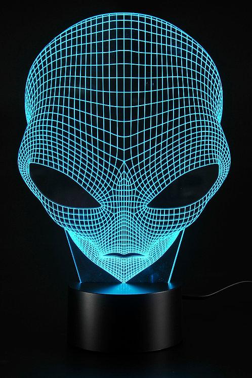 3D Illusion Grow LED Alien Shapes Lamp 7 Colors USB Power