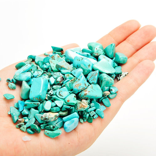 Turquoise Tumbled Chips Stone (1 Pound)