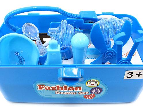 Medical Box Doctor Nurse Medical Kit Playset (Blue)