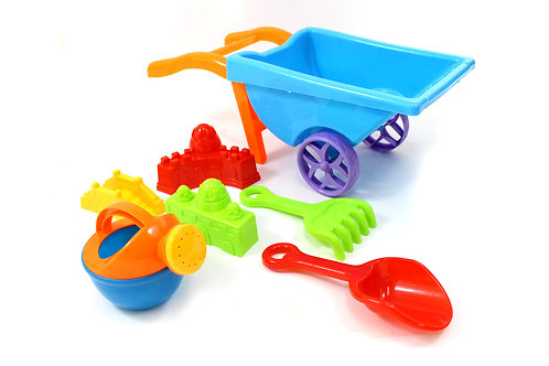 Beach Toy Playset With Wheelbarrow (Colors May Vary)