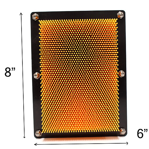 3D Pin Art Impression Board (Orange)