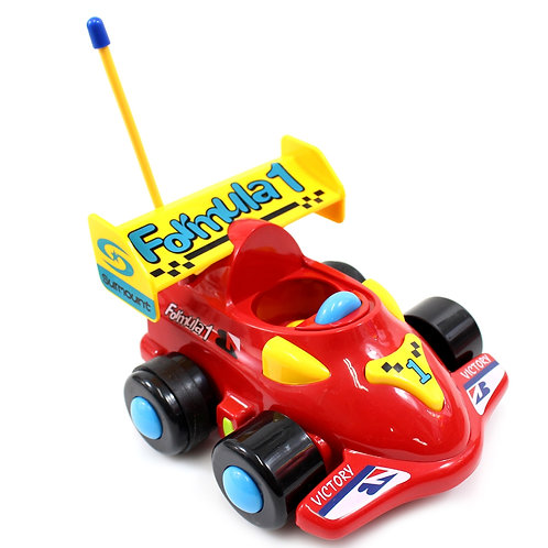 """4"""" Cartoon RC Formula Race Car Remote Control Toy For Toddlers (Red)"""