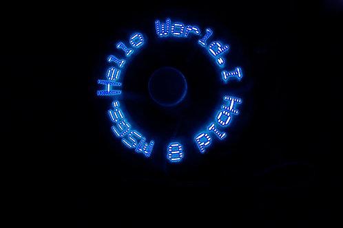 "12"" USB LED Fan Blue"