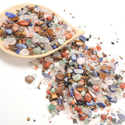 Assorted Tumbled Chips Stone (1 Pound)