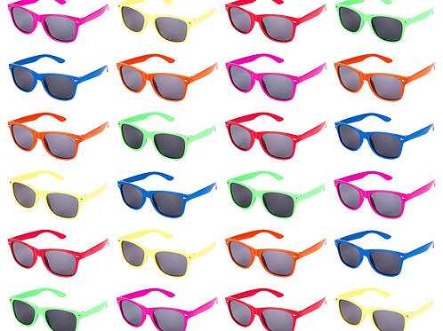 24 pc Neon Kids Sunglasses