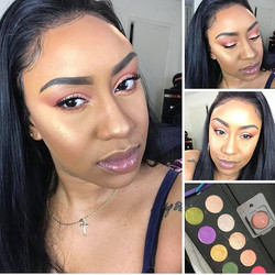 Spring look created by _im_natasha_nicole using our Baked Gold Highlighter & customized palette of o
