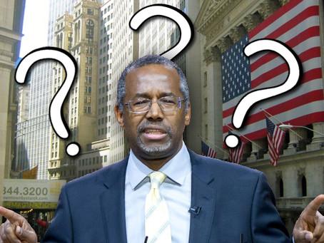 Ben Carson Doesn't Understand Bank Loans