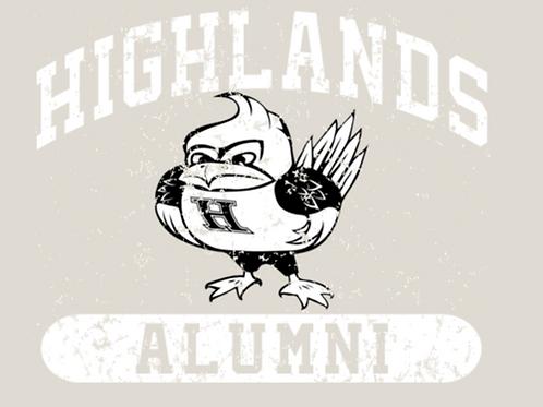 Blue Short Sleeve Alumni Bird Tee - Crewneck or V-Neck