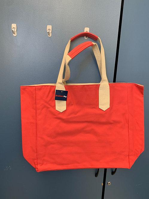 Pink/Natural Tote Bag