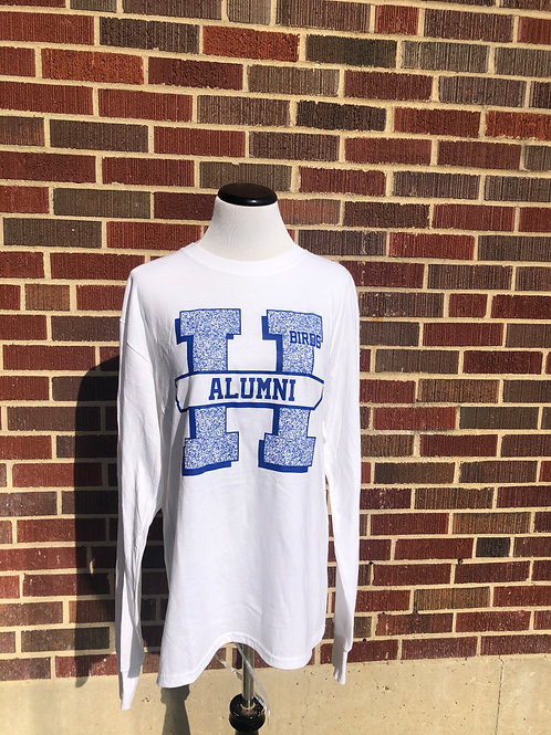 White Alumni Long Sleeve