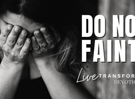 Do Not Faint!