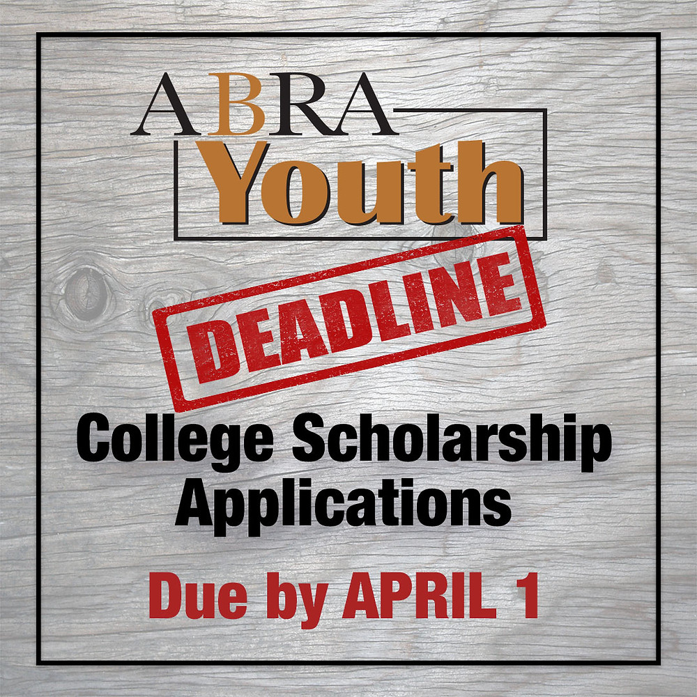 ABRA youth scholarship deadline