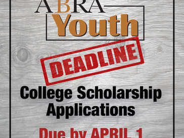 College Scholarship Applications Due APRIL 1