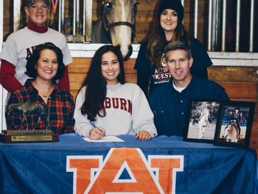 Rachel Hoopman signs with Auburn University Equestrian Team
