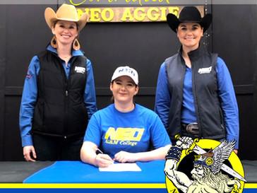Hannah Cain Commits to North Eastern Oklahoma IHSA Equestrian & Horse Judging Teams!