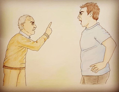 _Neighbours quarrel_ an illustration for