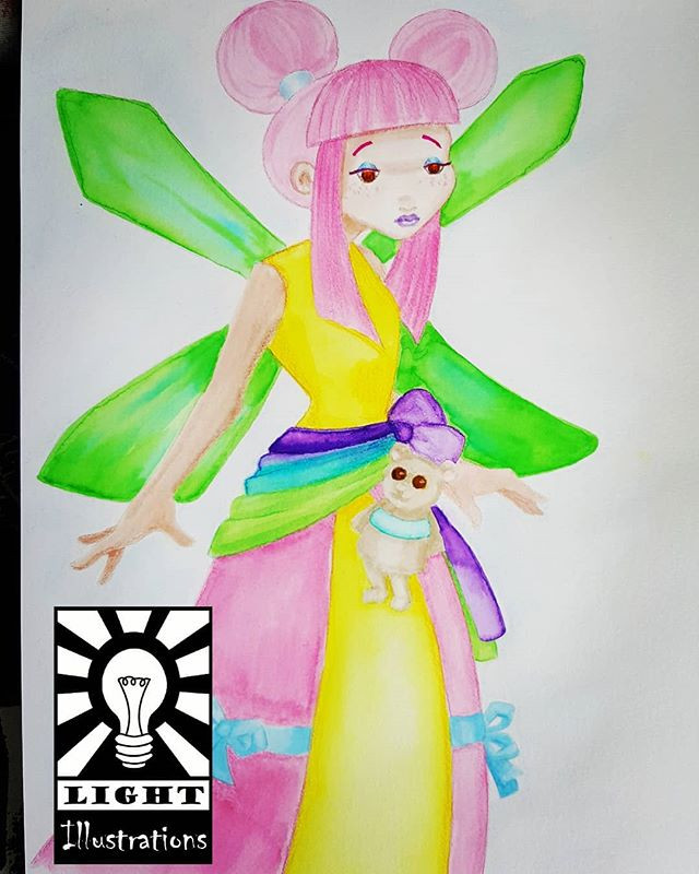 Fairy in the style of Evelyne Duverne. I