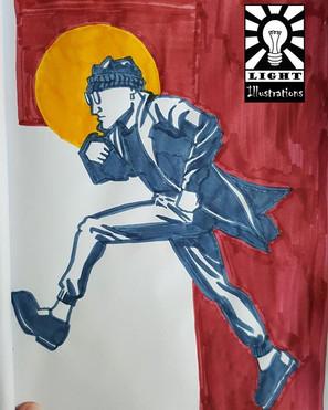 Run away! _#sketch #sketchbook #schets #
