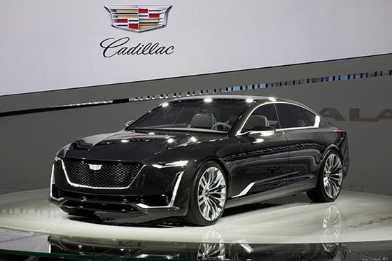 The final car in the display, the Escala, is the latest of Cadillac's concept.