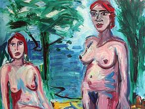 Zwei Frauen am See