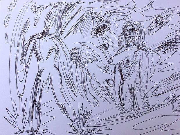 Auferstehung Skizze